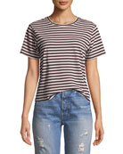 AMO Denim Classic Striped Short-Sleeve Crewneck Tee