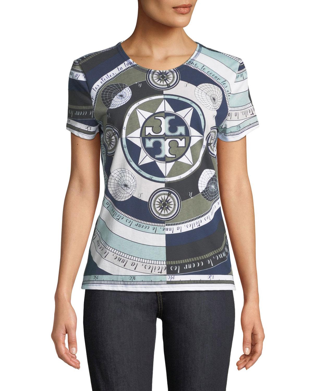 Louis Octagonal-Print T-Shirt, Navyconstellation