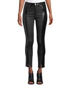 Rag & Bone Evelyn Two-Tone Leather Skinny Pants
