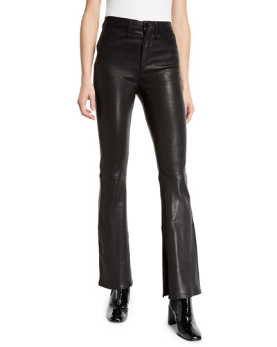 d62d164572a Quick Look. Rag   Bone · Bella High-Rise Boot-Cut Leather Pants. Available in  Black