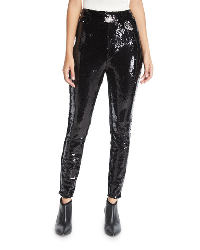 63efc2a71833 Quick Look. FRAME · Sequin Pull-On Ankle Skinny Pants