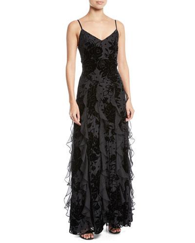 352c88d7aa Quick Look. Parker Black · Equinox Velvet Flower Cascade Gown Dress