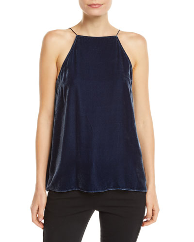 The Charlie Velvet Lace-Up Cami