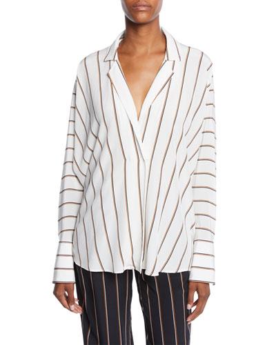 00dd08b82e47f0 Long Sleeves Silk Top
