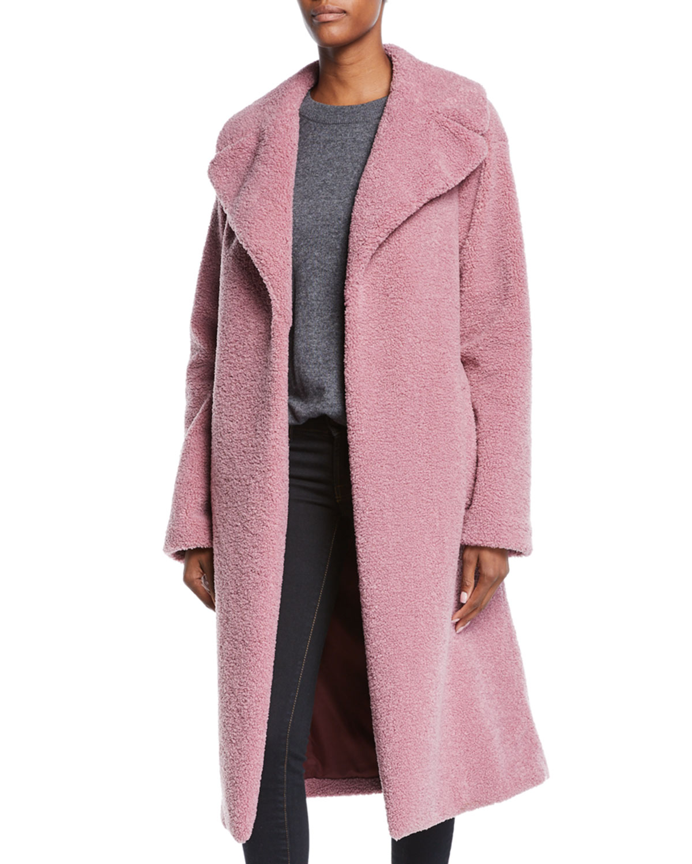 Harlan Bouclé Coat - Pink Size L