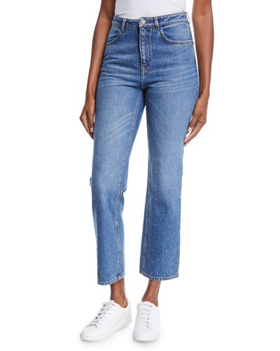Malone Studded High-Waist Jeans