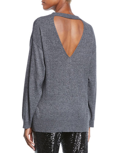 Knowles Crewneck Cutout Sweater