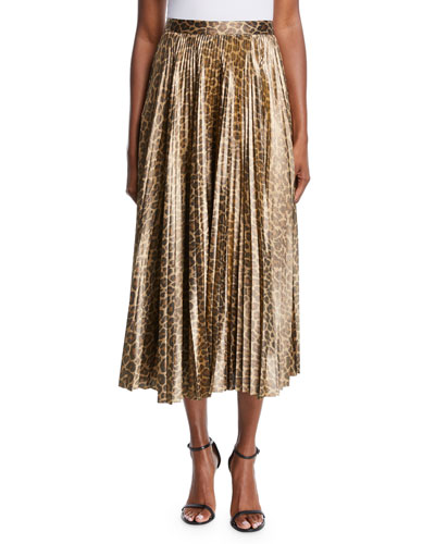 929720a4b264 Quick Look. A.L.C. · Bobby Leopard-Print Pleated Midi Skirt