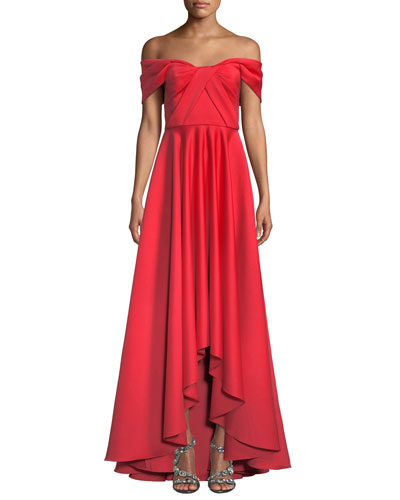 c6a38aac5 Quick Look. Jay Godfrey · Off-the-Shoulder Satin Gown