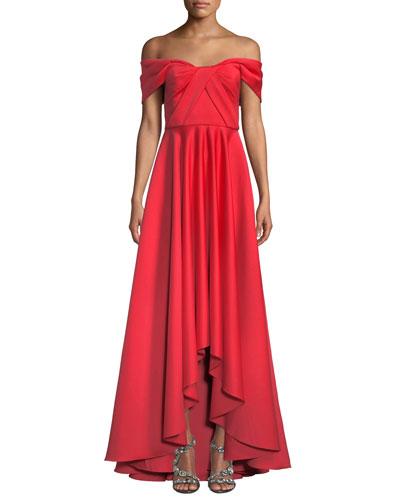 c26975bee23 Quick Look. Jay Godfrey · Off-the-Shoulder Satin Gown