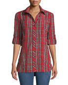 Finley Joey Plaid Roll-Tab Shirt