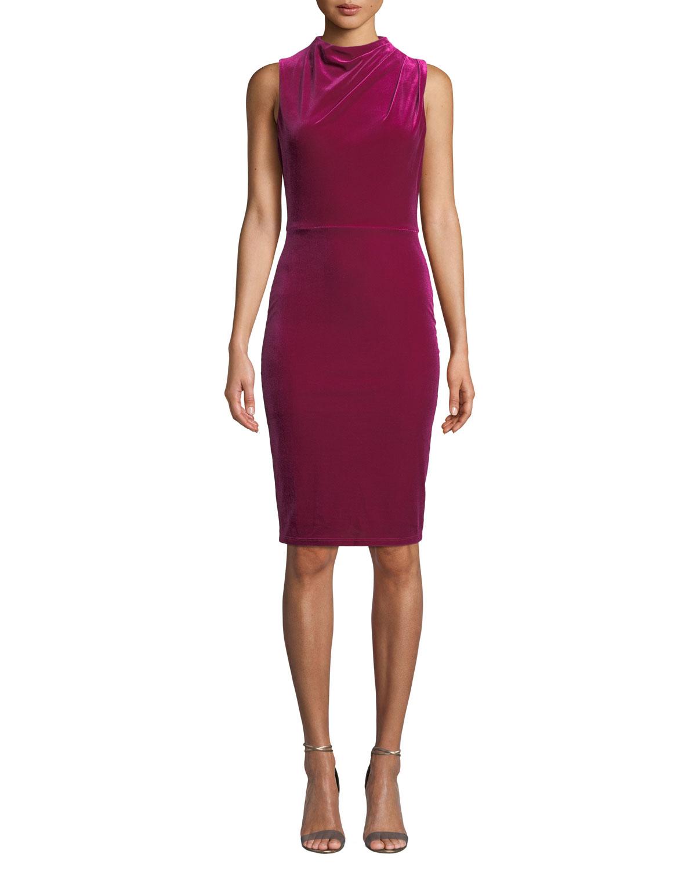 Corrine Sleeveless Velvet Dress