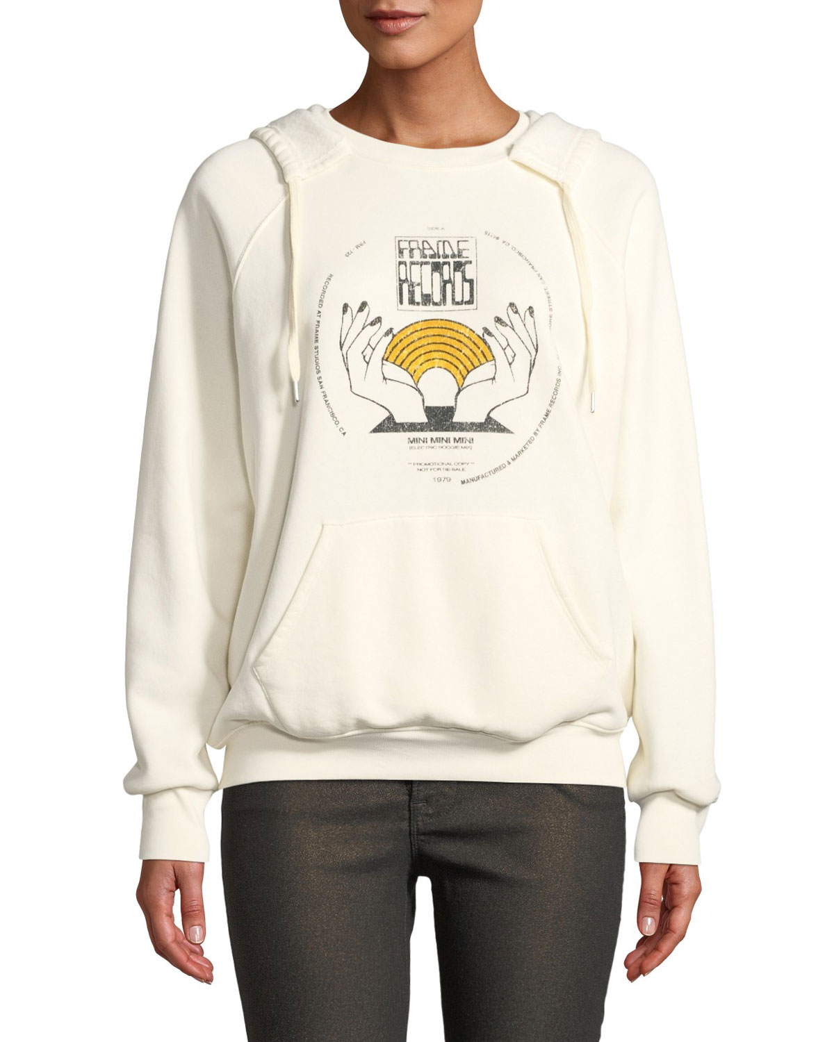 Frame OLD SCHOOL GRAPHIC COTTON PULLOVER HOODIE
