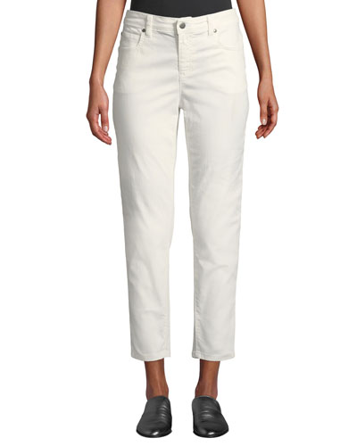 Petite Mid-Rise Tapered-Leg Slim Ankle Jeans