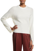 3.1 Phillip Lim Alpaca-Wool Embellished Pullover Sweater
