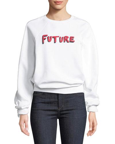 Future Crewneck Raglan Cotton Sweatshirt