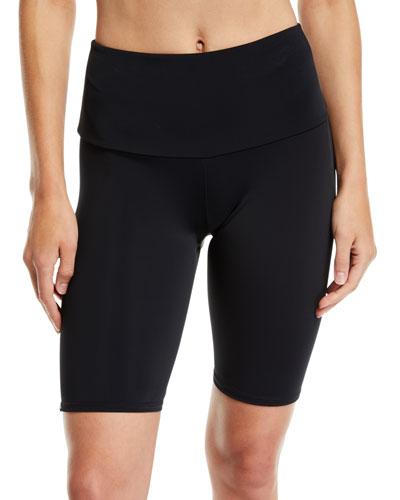 High-Rise Activewear Bike Shorts