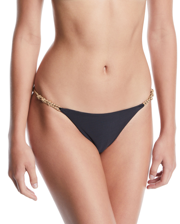 VIX Knotted Rope Hipster Bikini Swim Bottoms in Black