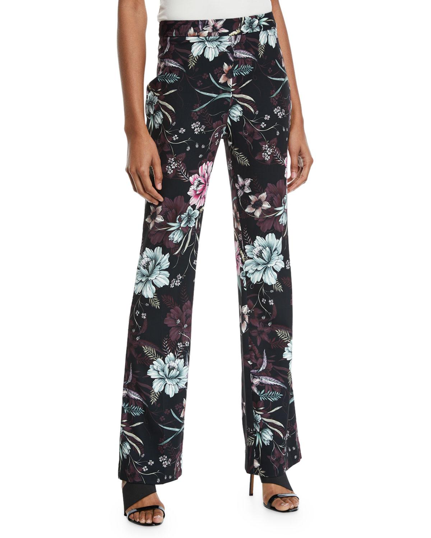 Floral Straight-Leg Pants