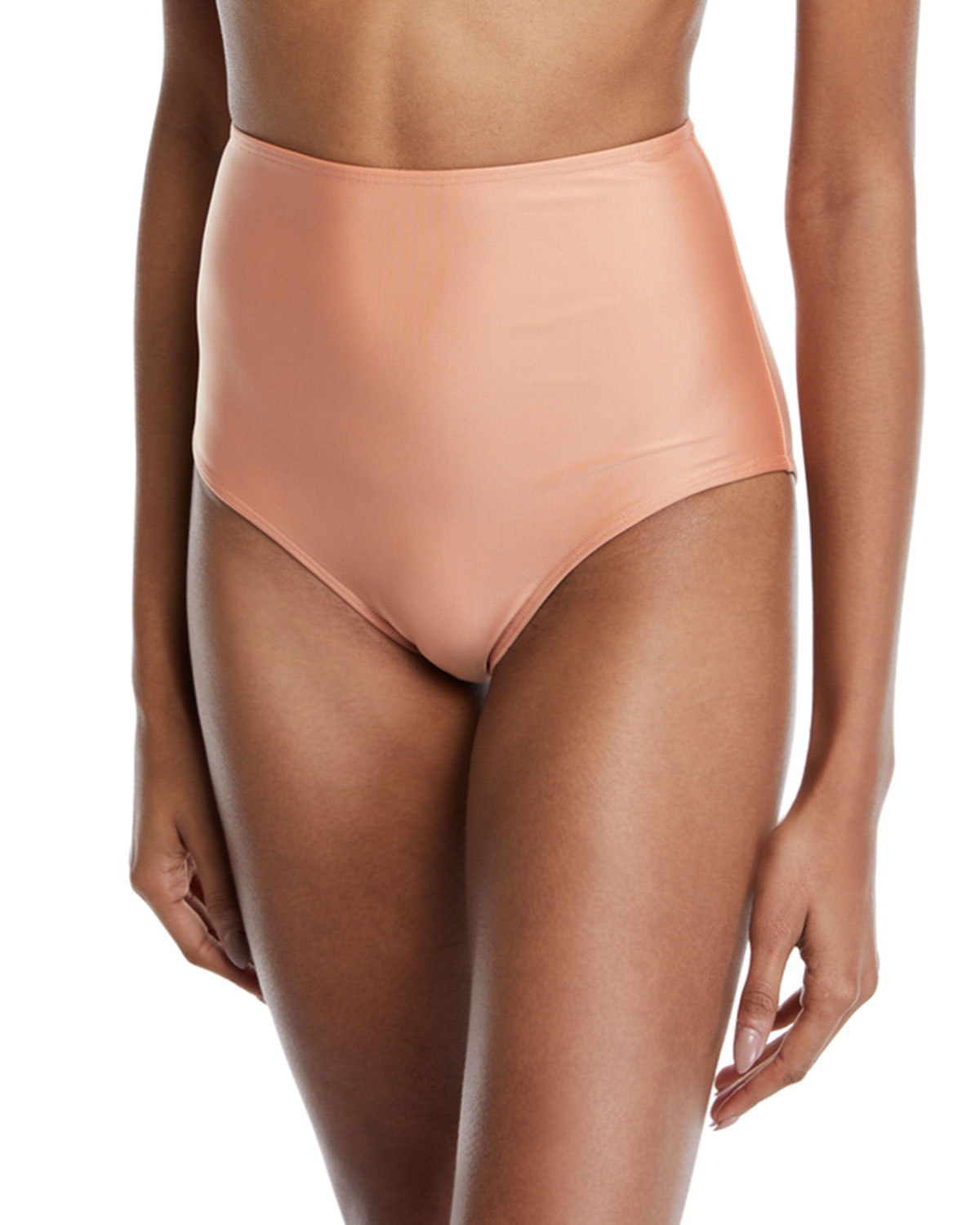 ÁGUA DE COCO Cruzeiro High-Waist Bikini Swim Bottoms in Rose