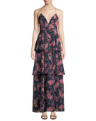 Fame and Partners The Wyatt Floral Tiered Ruffle