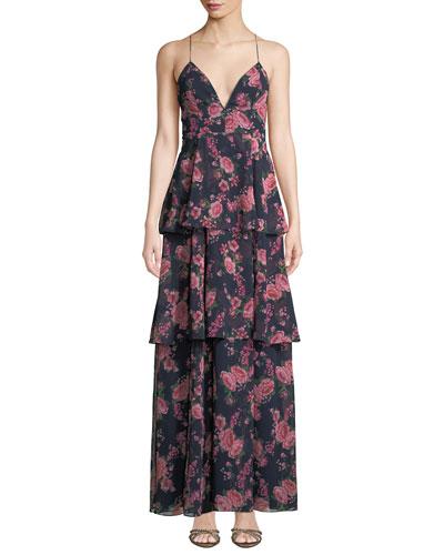 The Wyatt Floral Tiered Ruffle Dress