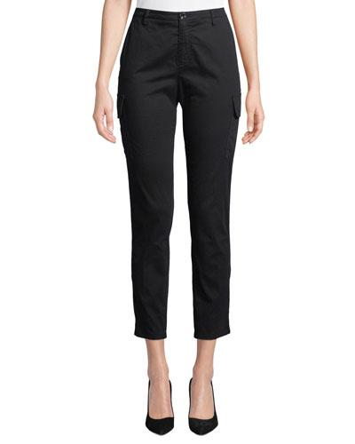 Slim Straight-Leg Ankle Cargo Pants