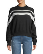 ATM Anthony Thomas Melillo Cashmere-Blend Intarsia Striped