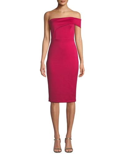 721906f96c7 Quick Look. Black Halo · Asymmetric Off-Shoulder Sheath Dress