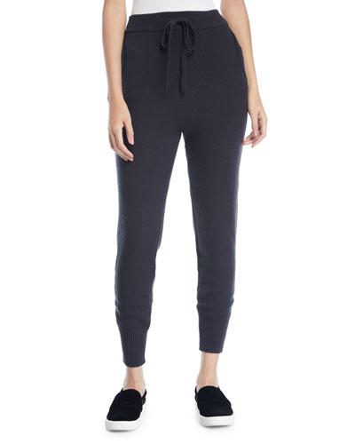 Textured Stitch Drawstring Jogger Pants