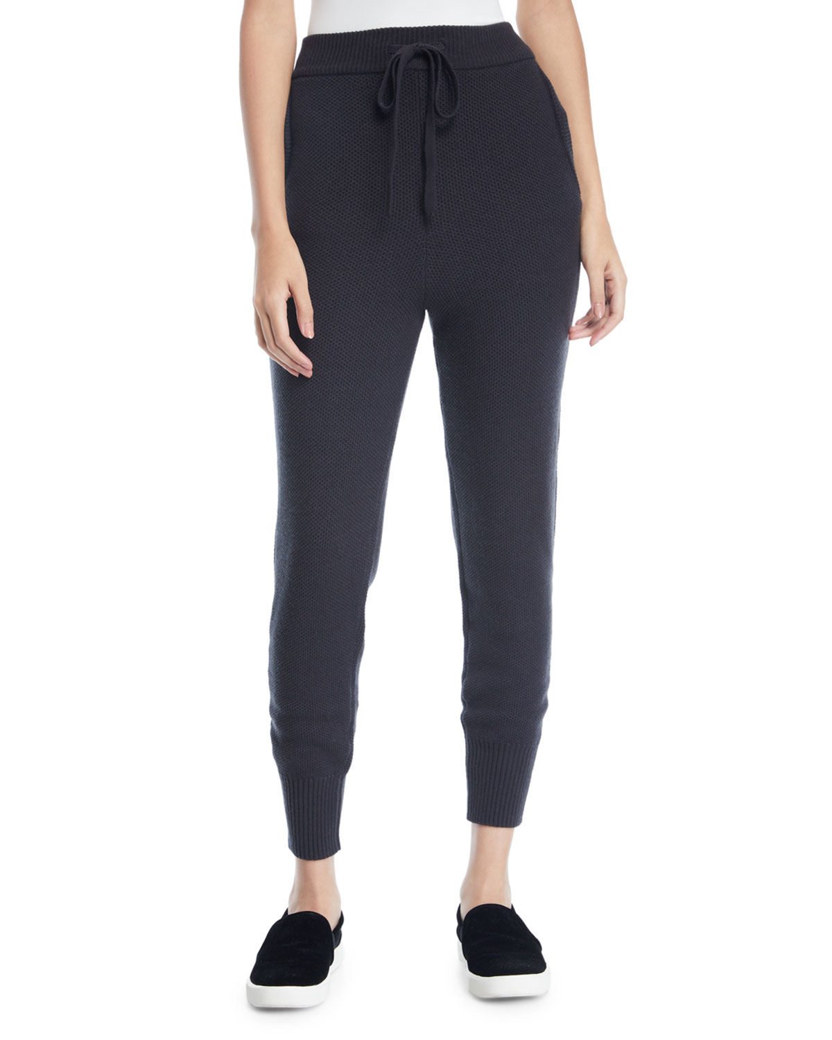 MARLED BY REUNITED Textured Stitch Drawstring Jogger Pants in Charcoal