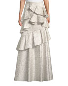 Alice + Olivia Flossie Ruffle Tiered Ball Gown