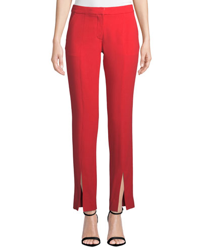 Delta Satin Back Crepe Split-Leg Pants