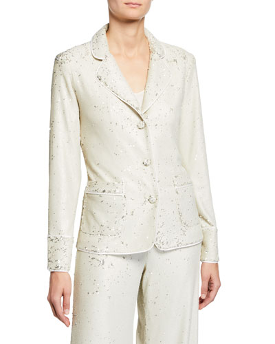 7b843a3e Imported Sequined Jacket | Neiman Marcus
