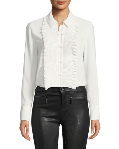 6075105eb523a White Ruffle Front Top