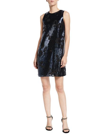 kate spade new york leopard sequin shift dress