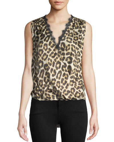 Quick Look. Velvet · Vada Leopard-Print Sleeveless Top ... dbd670b32