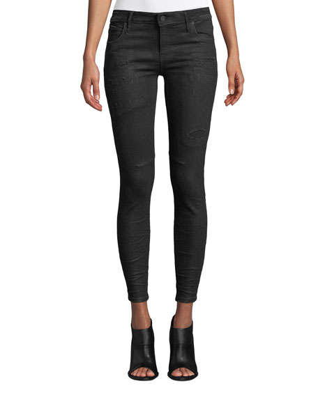 RtA Prince Distressed Ankle Skinny Jeans