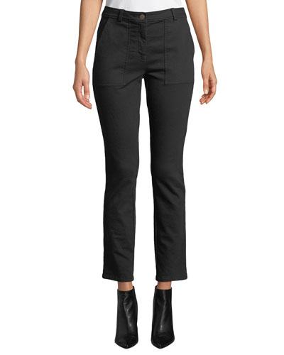 Cozy Stretch Slim-Leg Ankle Pants, Plus Size
