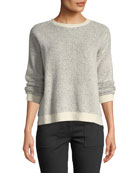 Eileen Fisher Organic Cotton-Blend Long-Sleeve Sweater w/ Rib