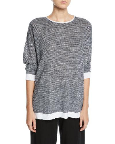 Organic Linen-Cotton Slub Top