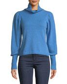 Diane von Furstenberg Beatrice Wool-Cashmere Turtleneck Sweater