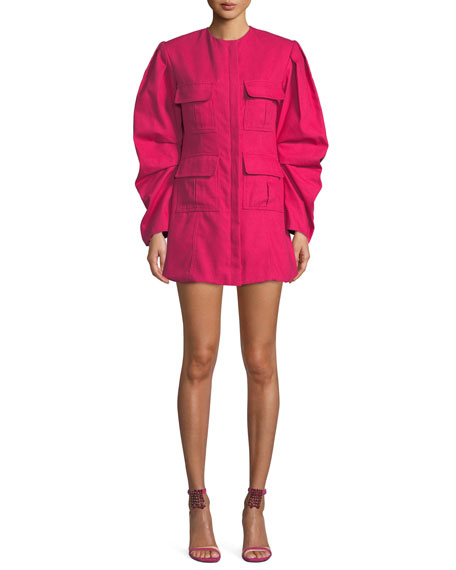 Maggie Marilyn Do Whatever It Takes Structured Tucked-Sleeve Dress