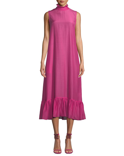 Floating On The Clouds High-Neck Dress