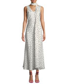Maggie Marilyn Strength In Vulnerability Printed Tie-Neck Long