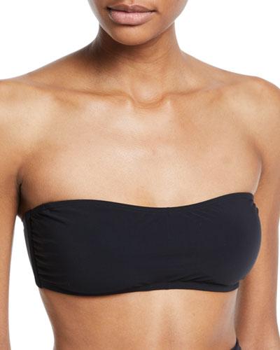 Solid Bandeau Bikini Swim Top