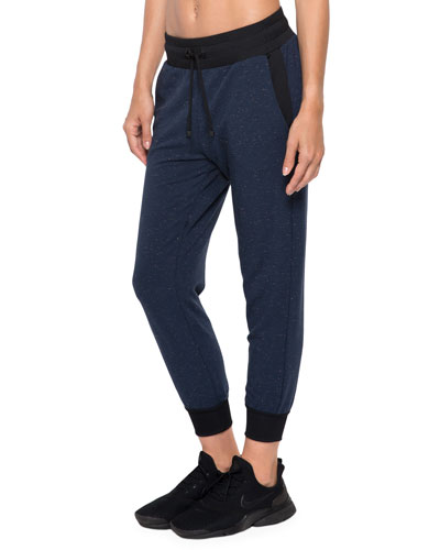 Cosmic Glance Cropped Jogger Pants