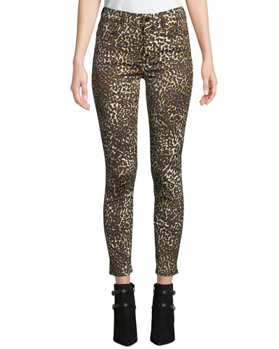 977dc195e08f Quick Look. Jen7 by 7 for All Mankind · Leopard-Print Skinny Ankle Jeans