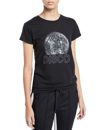 Disco Ball Graphic Short-Sleeve Tee