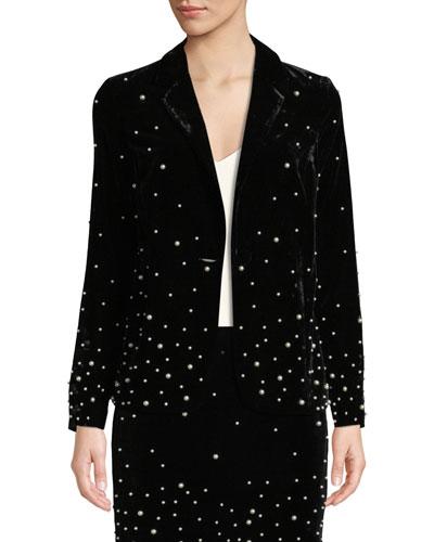Stardust Pearly-Bead Blazer